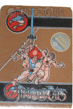 Thundercat Merchandise on Corkboard     Thundercats Lair