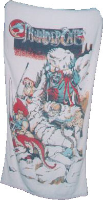 Thundercats Clothing on Beach Towel     Thundercats Lair